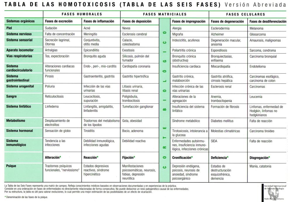 Niveles de homotoxicosis
